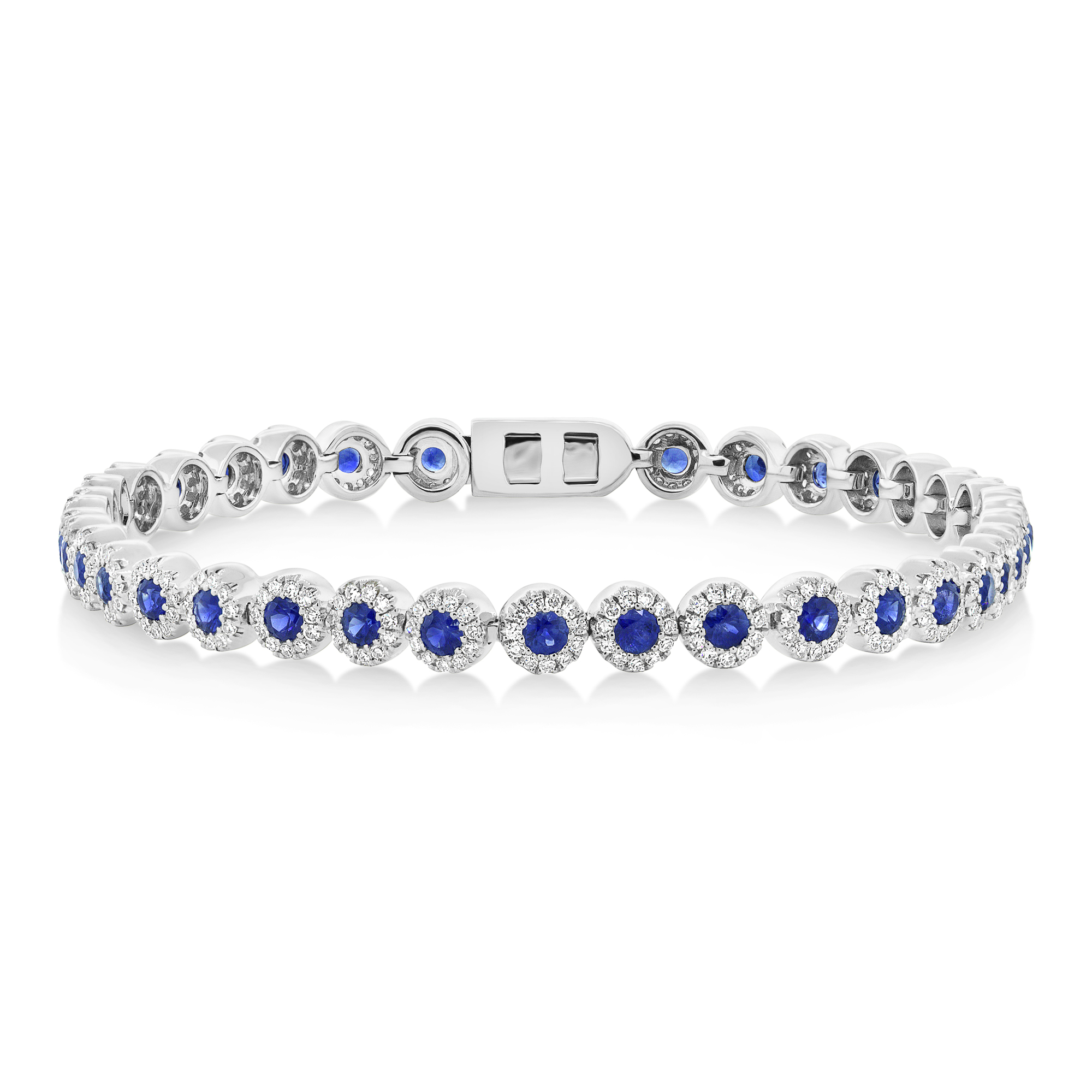 franki tennis blue sterling crystals diamond princess silver sapphire cz and baker bracelet products cut